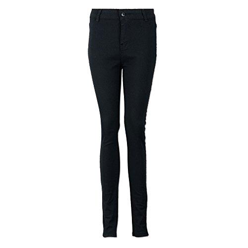 Cotone Matita Lqqstore Donna Magro Elastica Jeans Denim Casuale Semplice jeans Vita Stretch Alta Nero Pantaloni In donna cAXArZq