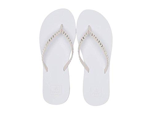 Reef Women's Bliss Embellish Premium Vegan Leather Flip-Flop, Bridal, -