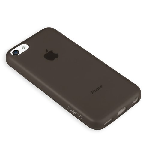 GGMM ipc00102 TPU Soft Slim Solid Color Case für Apple iPhone 5C schwarz