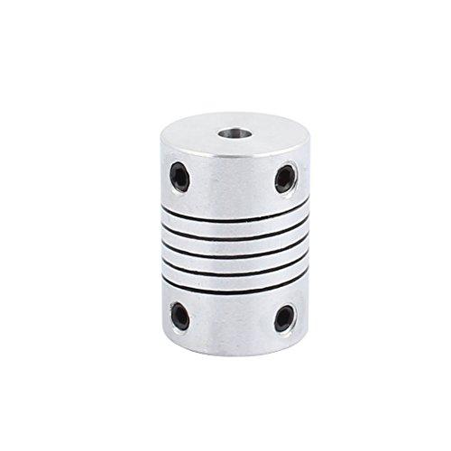 uxcell 4mm to 4mm Shaft Coupling 25mm Length 18mm Diameter Stepper Motor Coupler Aluminum Alloy Joint Connector for 3D Printer CNC Machine DIY Encoder
