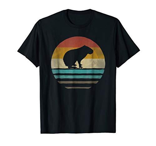 Capybara Shirt Retro Vintage 70s Silhouette Distressed