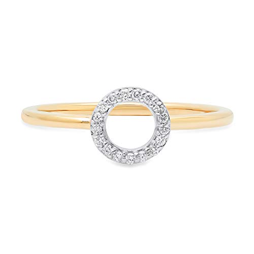 Lab Grown Diamond Circle Ring in 10k Solid Yellow Gold for sale  Delivered anywhere in Canada