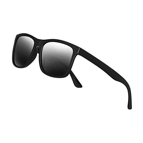 Polarized Sunglasses for Men TR90 Unbreakable Mens Sunglasses Driving Sun Glasses For Men/Women]()