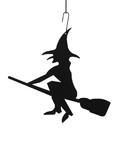 Wrought Iron Witch Halloween Decoration Christmas Holiday Decoration Silhouette]()