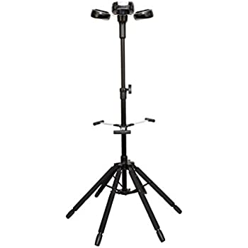 D&A Guitar Gear Hydra Quick-Folding 6-Legged Triple Guitar Stand with 3 Locking Heads (H-0600)