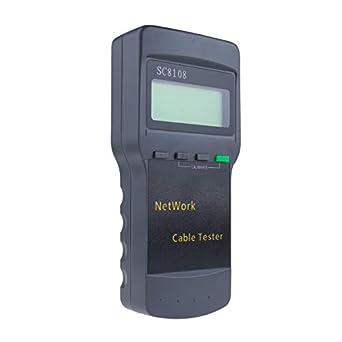 DBPOWER TD0091 Sc-8108 5E 6E Cat5 Rj45 Network LAN Phone Cable Multifunction Tester Meter, Gray