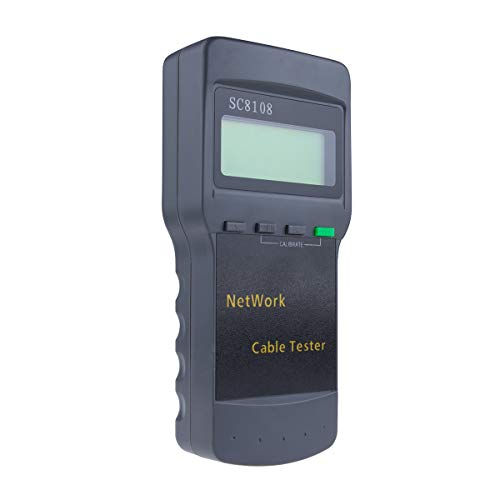 DBPOWER TD0091 Sc-8108 5E 6E Cat5 Rj45 Network LAN Phone Cable Multifunction Tester Meter, Gray