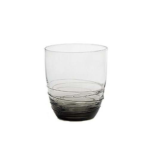 Mikasa Swirl Smoke Double Old Fashioned Glass, 14 oz