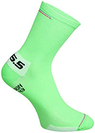 Q36.5 Compression ITA Green Fluo Pack of 5, Calcetines de Ciclismo ...