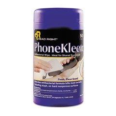 PhoneKleen Wet Wipes, Cloth, 5 x 5, 50/Tub (Wet Phonekleen Wipes)