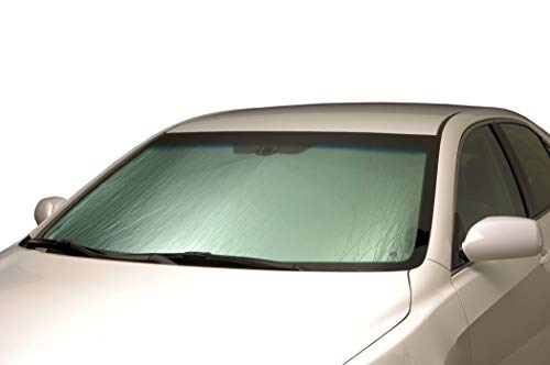 Windshield Introtech Automotive - Intro-Tech NS-60 Custom Fit Windshield Sunshade for Select Nissan Rogue Models, Silver
