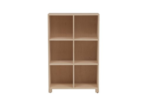 urbangreen furniture maple unfinished Media LP Record Cabinet - 3 Tier - Maple Office Media Storage