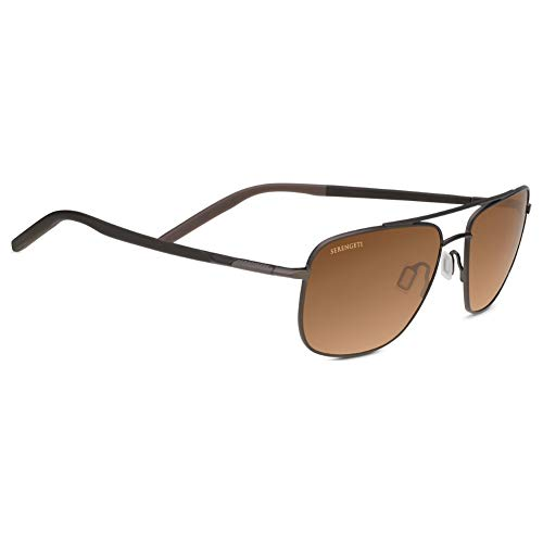 Seregenti Tellaro Sunglasses, Matte Espresso/Dark Brown/Chocolate Brown Frame, Polarized Drivers Gradient Lens
