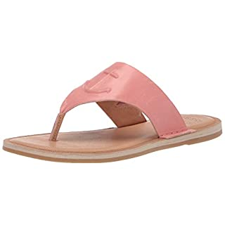 Sperry Women's Seaport Thong Sandal, Washed Red, 7