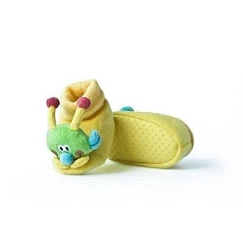 Babyschuhe Krabbelschuhe Hausschuhe rutschsicher Kinderschuhe 0-24 Monate Schnecke in gelb