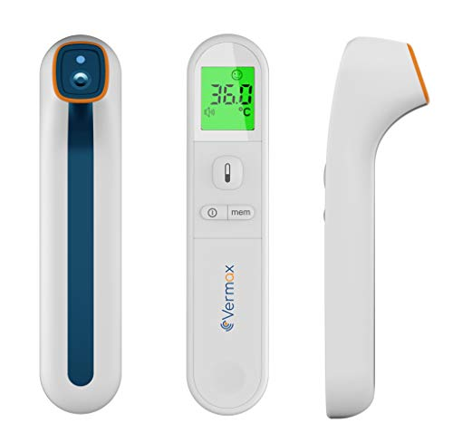 Non-Contact Infrared Thermometer Licensed Adult Kid Baby Thermometer High Accuracy and Fast Reading Forehead and Body Thermometer