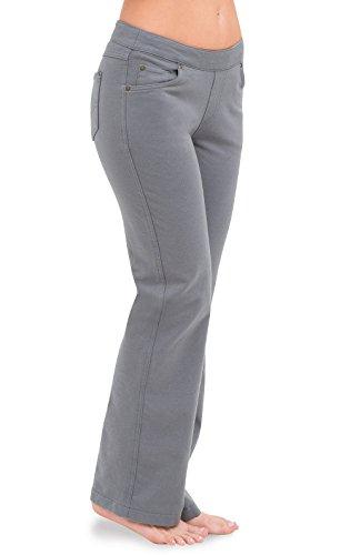 PajamaJeans Women's Bootcut Stretch Knit Denim Jeans, Pewter, SML (4-6) - Grey Bootcut Jean