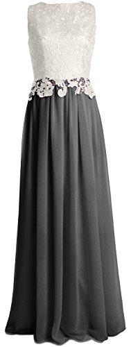 MACloth Women Lace Chiffon Long Prom Dress Wedding Party Bridesmaid Formal Gown Negro