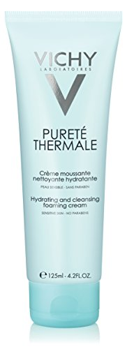 Vichy Pureté Thermale Hydrating Foaming Cream Cleanser, 4.2 Fl. Oz. (Cornflower Water)