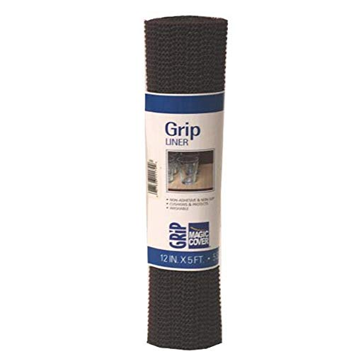 Magic Cover Grip Non-Adhesive Counter Top, Drawer and Shelf Liner, 12 inches by 5 feet, ()