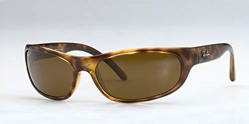 Ray-Ban Men's Rb4033 Polarized Rectangular Sunglasses, Havana, 60.6 - Designer Wrap