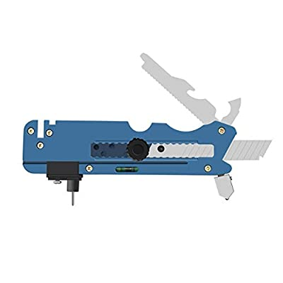 Ansblue Professional Multifunction Glass & Tile Cutter, Six Wheel Metal Cutting Tool Replace Sharpening knives scissors, bottle opener, wood saws, paper cutters, steel tape, gradienter - Blue