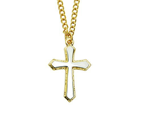 - Bob Siemon Designs Two-Tone Raised Edge Cross Necklace on 20