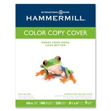 HAMMERMILL 60-Pound 17 x 11 Inches Photo White Copier Digital Cover Stock,  250 Sheets (HAM122556) (First Color Photo)