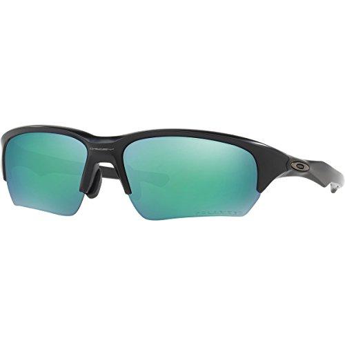 Oakley Men's Flak Beta (a) Polarized Iridium Rectangular Sunglasses, Matte Black, 65 - Polarized Oakley Flak
