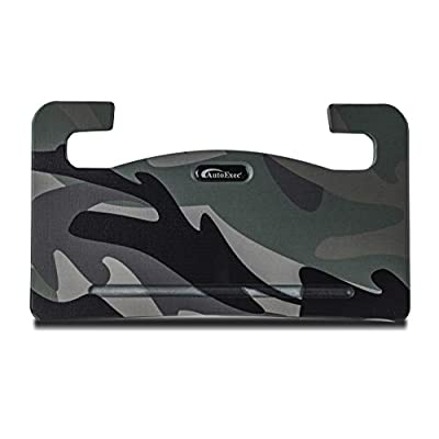 AutoExec AUE13070 Wheelmate Car Desk Green Camouflage Steering Wheel Tray for Laptop, Writing Space and Eating on The Go: Automotive