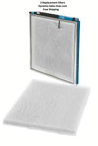 20 x 25 x 1 - Natures Home Micro Power Guard Air Cleaner Replacement Filter Pads , (3) Pack White