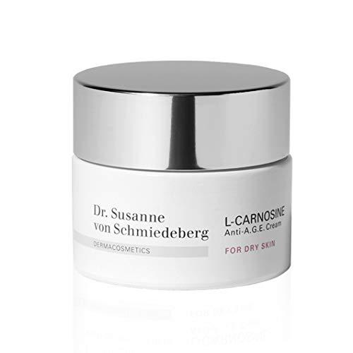 Dr. Susanne von Schmiedeberg L-Carnosine Anti-A.G.E. Cream für trockene Haut – Feuchtigkeits- & Anti-Aging Pflege – 50 ml