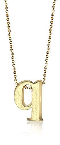 """Price comparison product image Alex Woo """"Little Letters"""" 14k Yellow Gold """"Q"""" Pendant Necklace"""