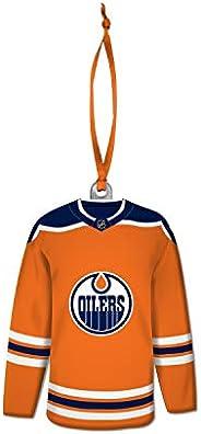 Edmonton_Oilers NHL Hockey Resin Jersey with Satin Ribbon Christmas Tree Ornament
