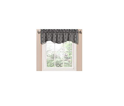 Waverly Waverly Home Classics 16-in Onyx Cotton Back Tab Valance