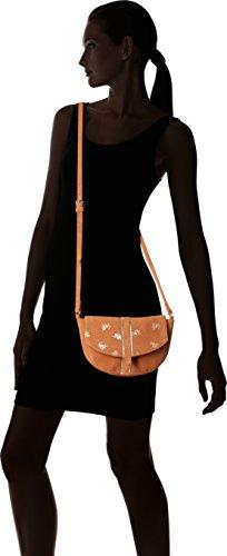 Petite Mendigote Tiago Printed - Bolsos bandolera Mujer Naranja (Ginger)