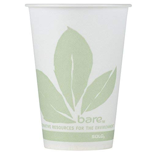 Dart Solo R7BB-JD110 Bare Eco-Forward 7 oz. Wax Treated Printed Paper Cold Cup - 100/Pack