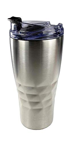 Primula Peak Hot or Cold Thermal Tumbler - Triple Layer Copper Technology, 20 Ounce, Brushed Stainless Steel
