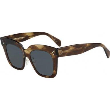 Celine CL41444/S 07B Havana Brown Kim Square Sunglasses Lens Category 3 Size - Sunglasses Kim