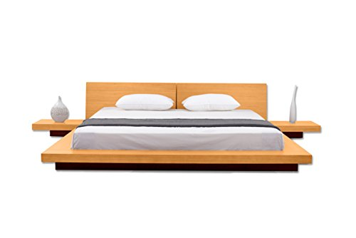 Matisse Fujian Modern Platform Bed 2 Night Stands Queen Oak .