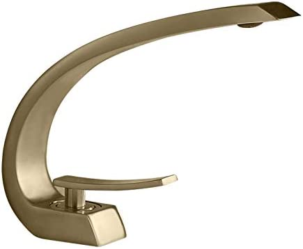 Homary 1 Handle Bathroom Sink Faucet With Pop Up Drain Cupc Certified Lead Free One Hole Deck Mount Curved Lavatory Faucet Mixer Solid Brass Buy Online At Best Price In Uae Amazon Ae