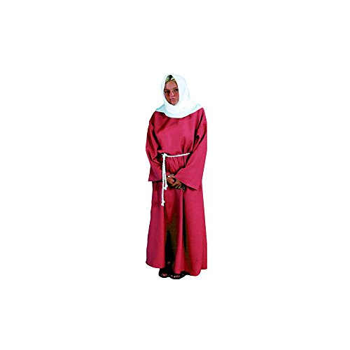 Alexanders Costumes Biblical Peasant Lady, Burgundy, One (Biblical Queen Costumes)