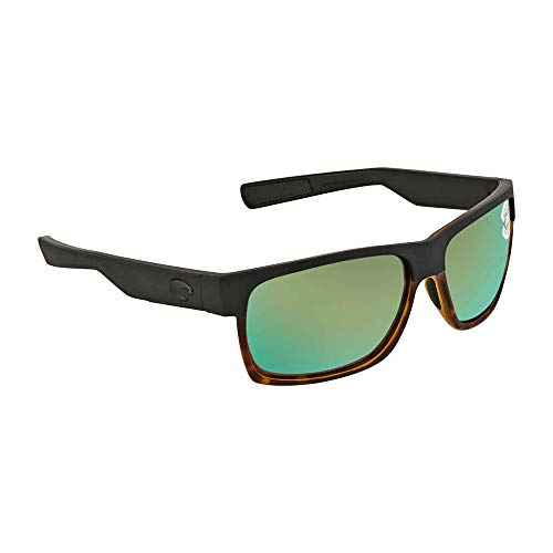 (Costa Del Mar Costa Del Mar HFM181OGMGLP Half Moon Green Mirror 580G Matte Black/Shiny Tortoise Frame Half Moon, Matte Black/Shiny Tortoise Frame, Large, Green Mirror 580G)