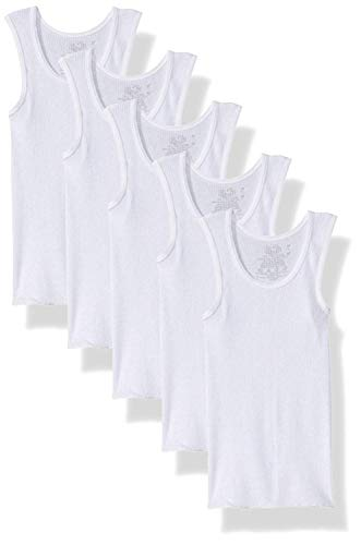 (Fruit of the Loom Boys' Cotton Tank Top Undershirt (Multipack) (White, Large))
