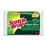 - Heavy-Duty Scrub Sponge, 4 1/2'' x 2 7/10'' x 3/5'', Green/Yellow, 6/Pack