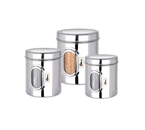 EBun-Stainless-Steel-See-Through-Dabba-Containers-Set-with-Lid-Small-Size-Mirror-Polish-AarPar-Model-3-Pieces-Set