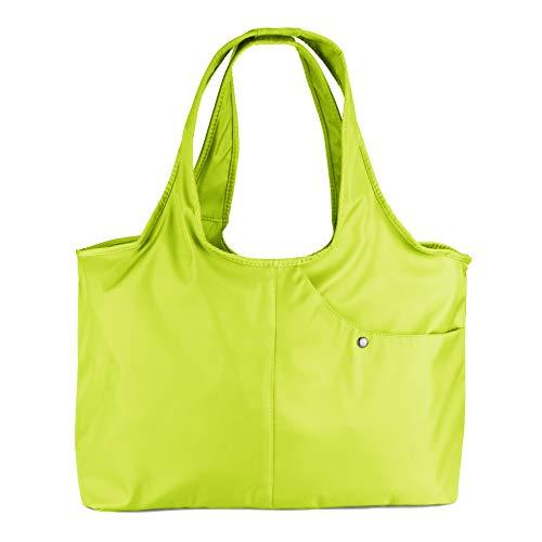 - ZOOEASS Women Fashion Large Tote Shoulder Handbag Waterproof Tote Bag Multi-function Nylon Travel Shoulder(Light Green)