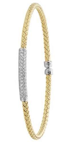 Bracelet Jonc en argent sterling 925plaqué rhodium Coupe