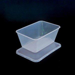 Recipientes de plástico con tapa, aptos para microondas ...