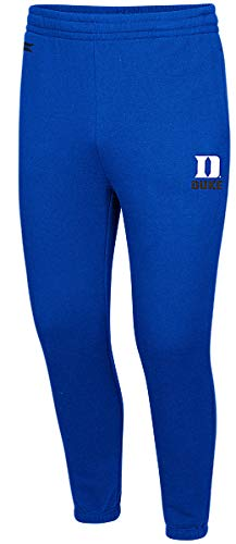 Colosseum NCAA Mens Playbook Fleece Embroidered Sweatpants (Medium, Duke Blue Devils)